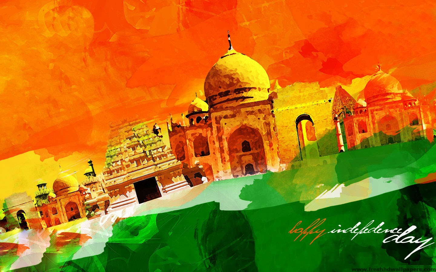 Fresh HD Wallpapers Happy Independence Day Of India 2013   Fresh HD 1440x900