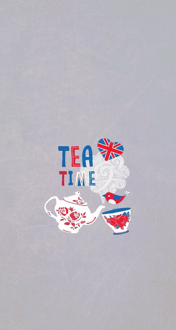 Tea Time Britain iPhone Wallpaper Cute EC Boxes Fondo pantalla 700x1309