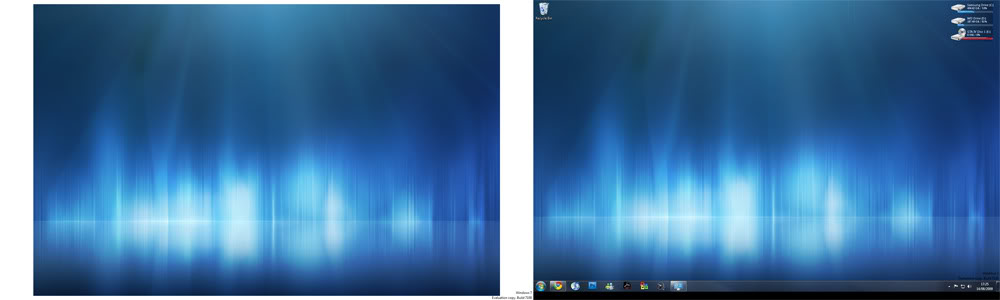 Windows 7 Dual Monitor wallpaper sizing issue 1000x300