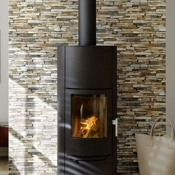 Brown Beige Grey 9142 17 Realistic Brick Slate Effect AS Creation 670x670