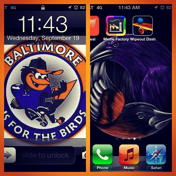 iphone screenshot wallpaper baltimore ravens orioles mlb nfl 612x612