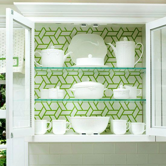 Low Cost Kitchen Cabinet Makeovers: [50+] Putting Wallpaper On Cabinets On WallpaperSafari
