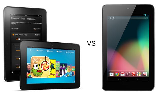 Kindle Fire HD vs Nexus 7 HD Wallpapers 640x373