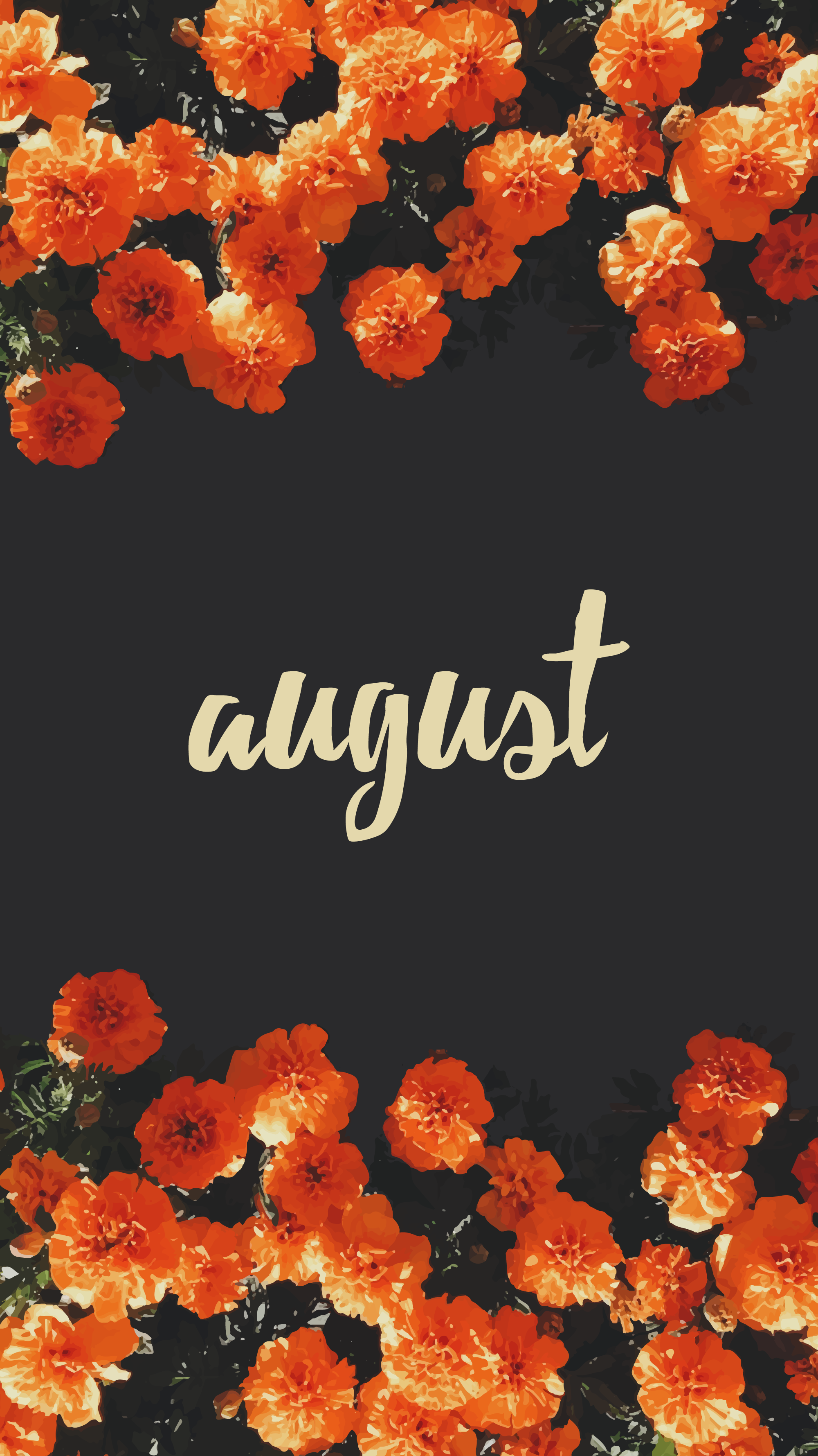 August Flowers August wallpaper Iphone background wallpaper 2000x3557