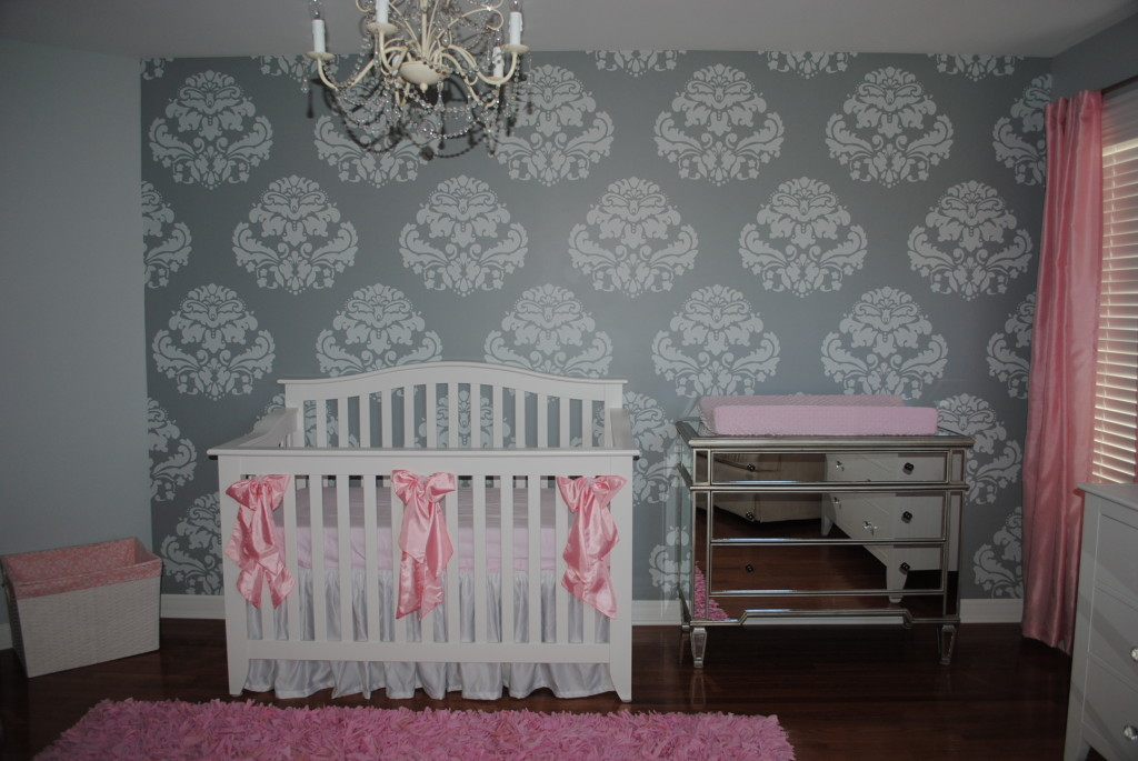 baby girl nursery wallpaper 2015 baby girl nursery wallpaper 1024x685