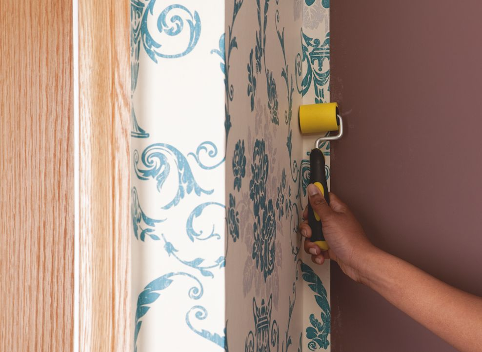 Wallpapering   Any room any style Projects DIY at BQ 988x722