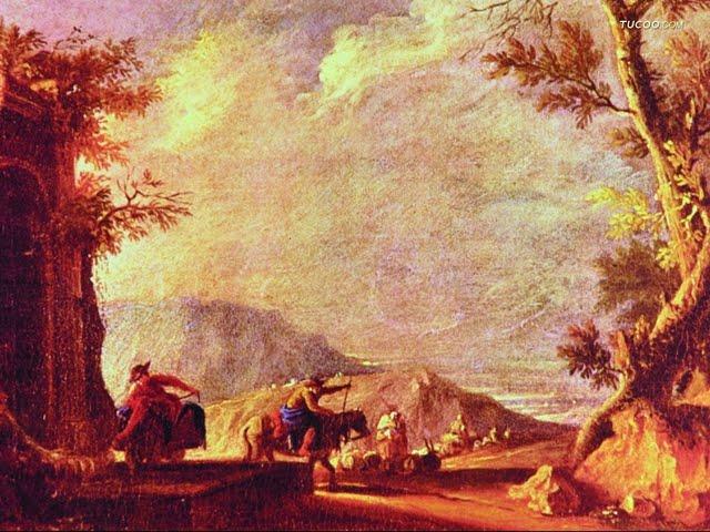 walltorcomwallpaperwestern landscape oil painting wallpaper 88679 640x480