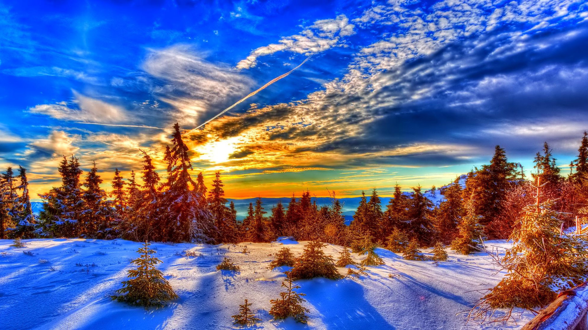 Download Winter Sunset HD Wallpapers Desktop Backgrounds in HD High 1920x1080
