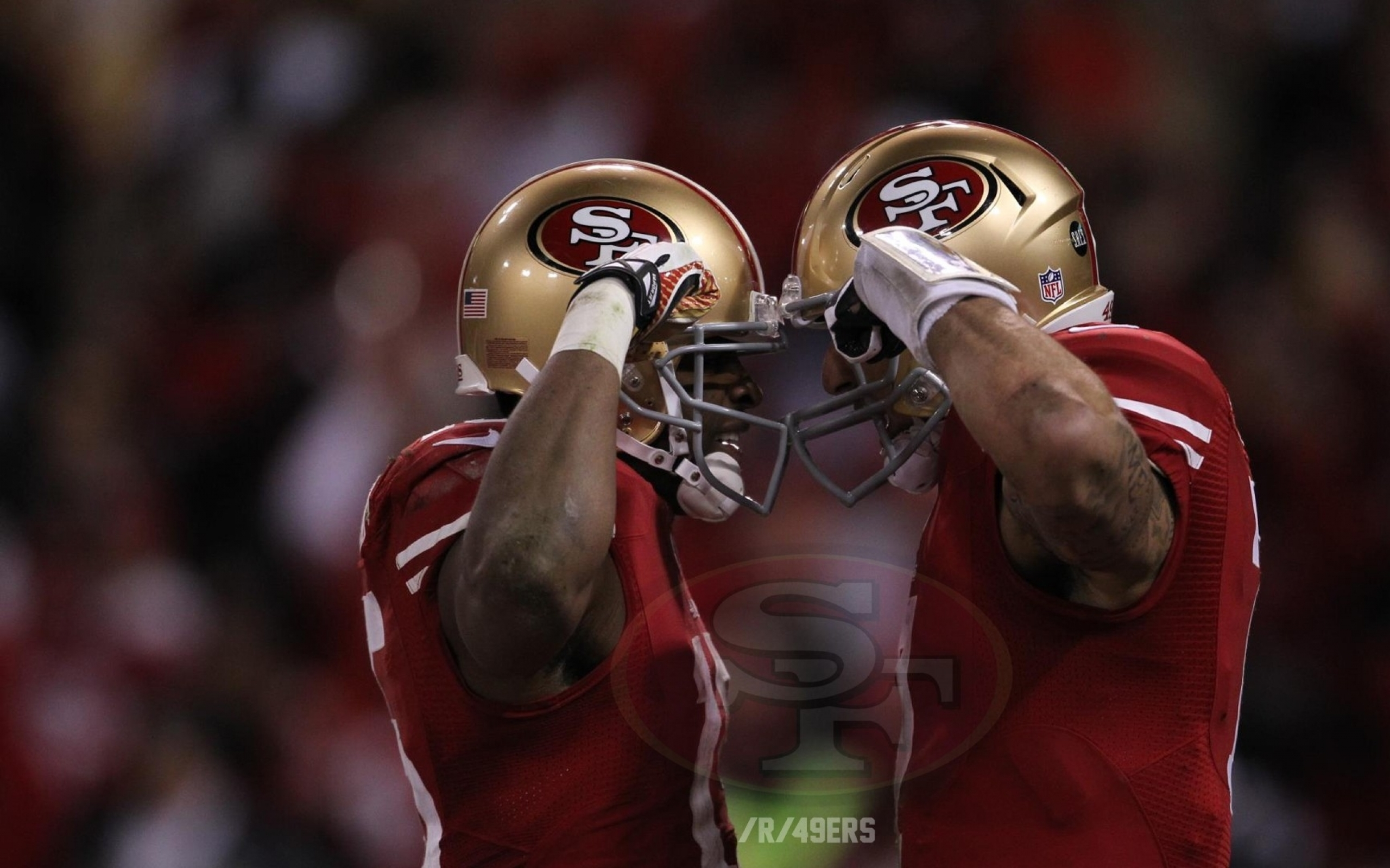 49ers 49ers colin kaepernick michael crabtree 1920x108 Best Wallpapers 2560x1600
