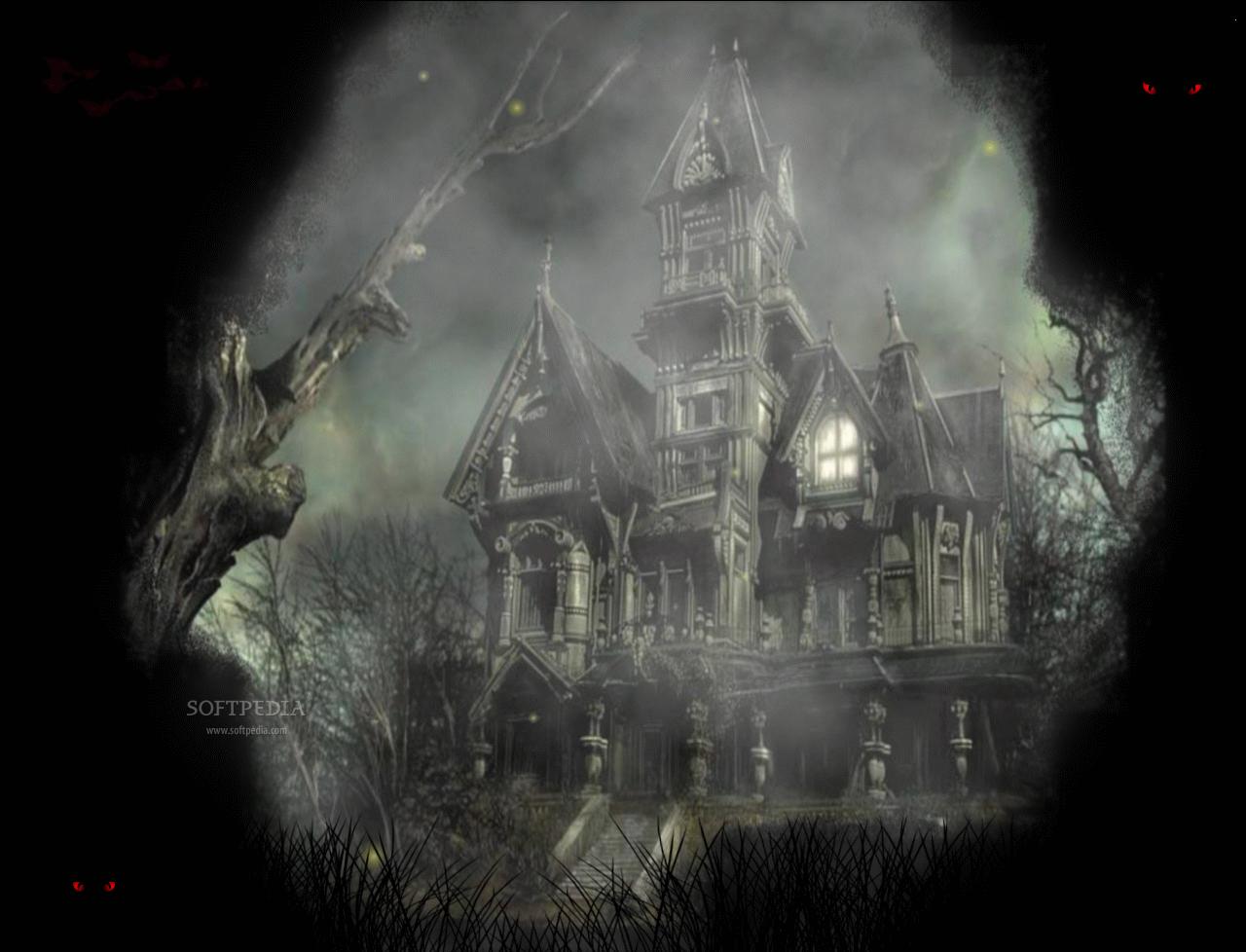 Halloween Mansion Animated Wallpaper   Halloween Mansion Animated 1280x978