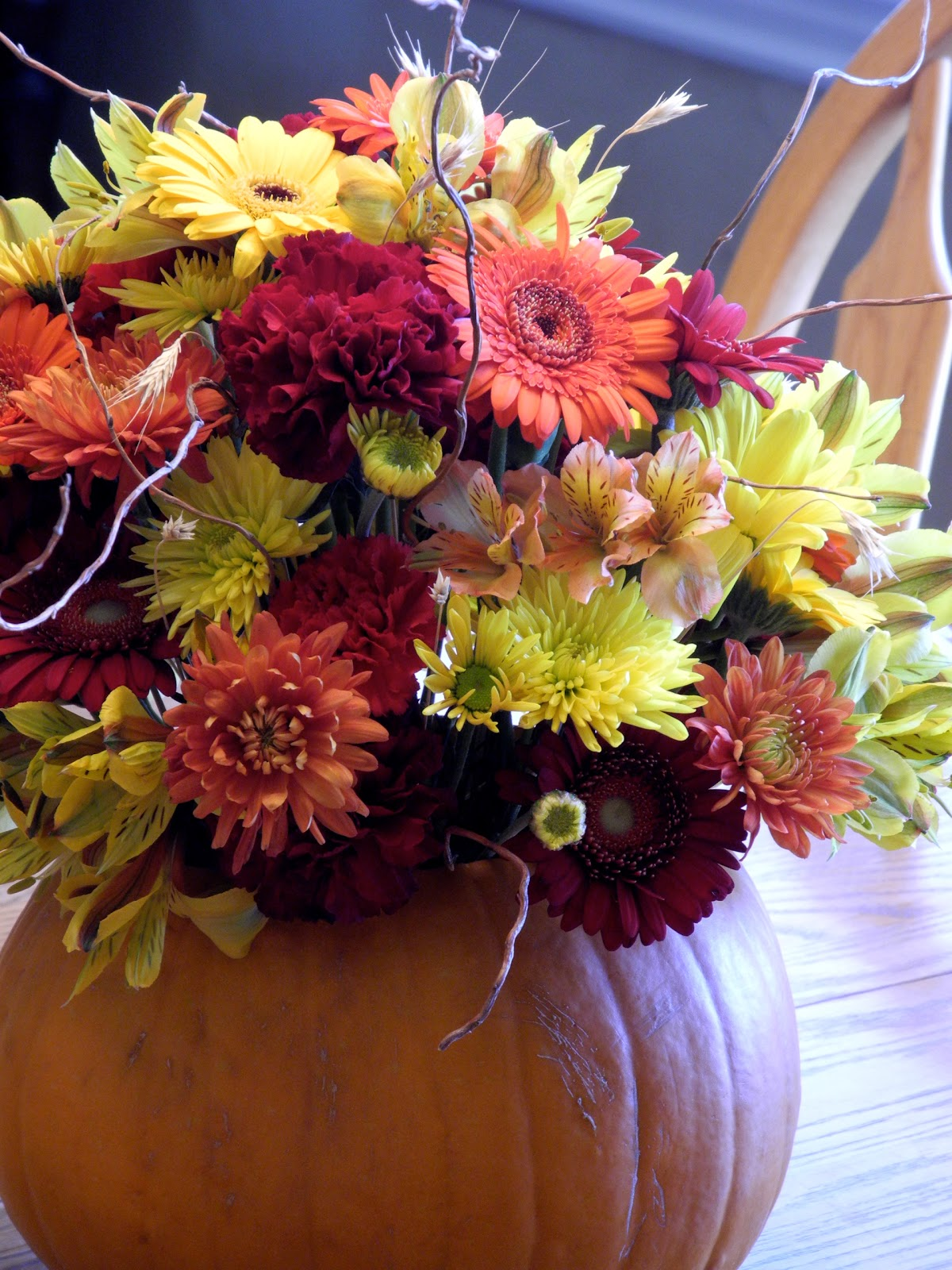 Fall Flowers And Pumpkins Wallpaper Fall color flowers and curly 1200x1600