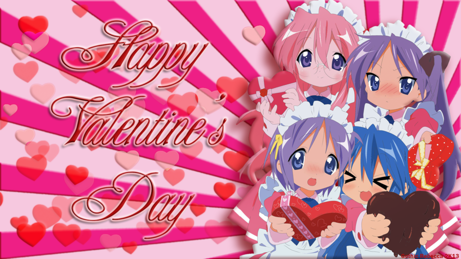 Lucky Star Valentines Day Wallpaper by Gothic Rebecca 900x506