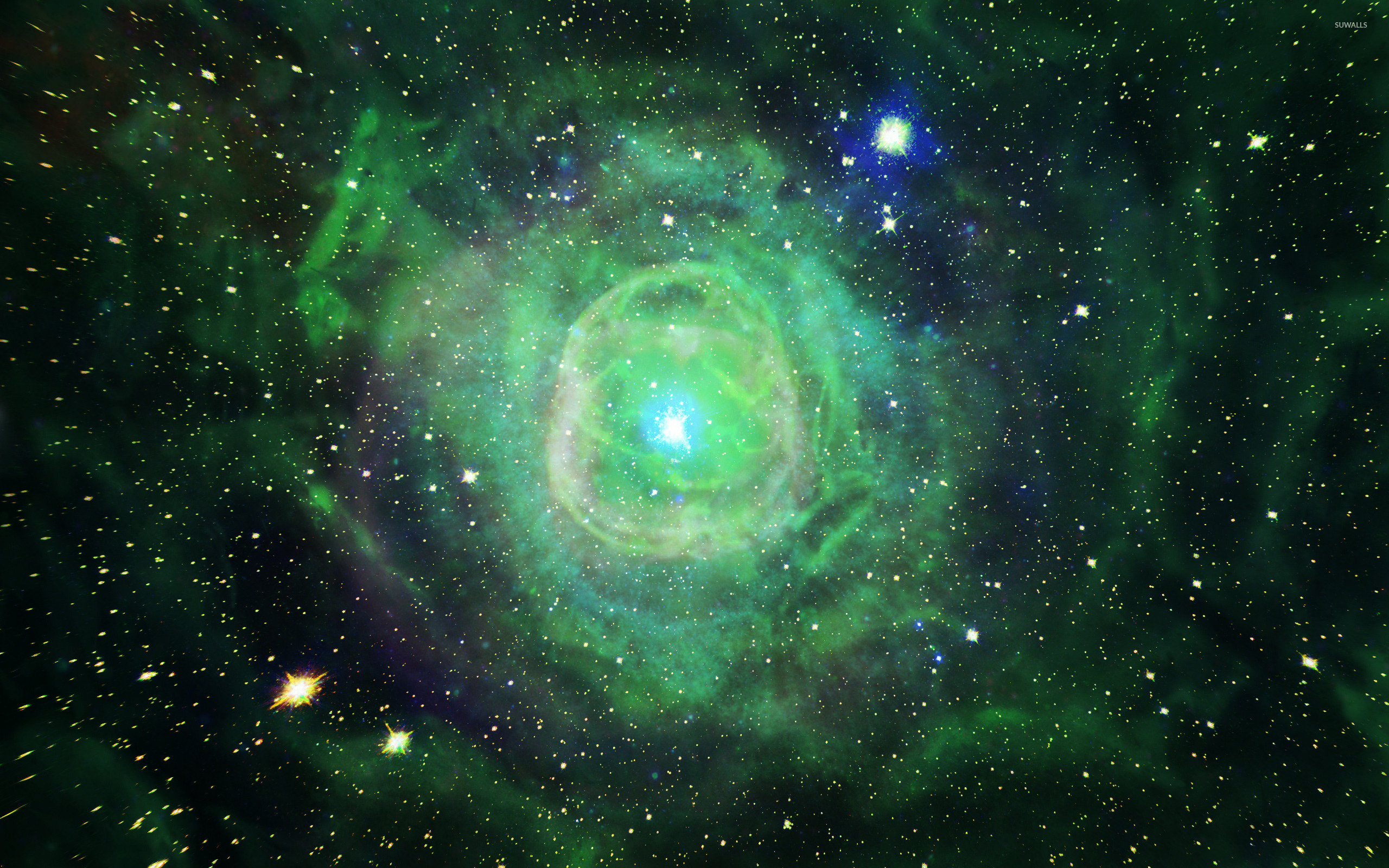 green high resolution nebula wallpaper - photo #1