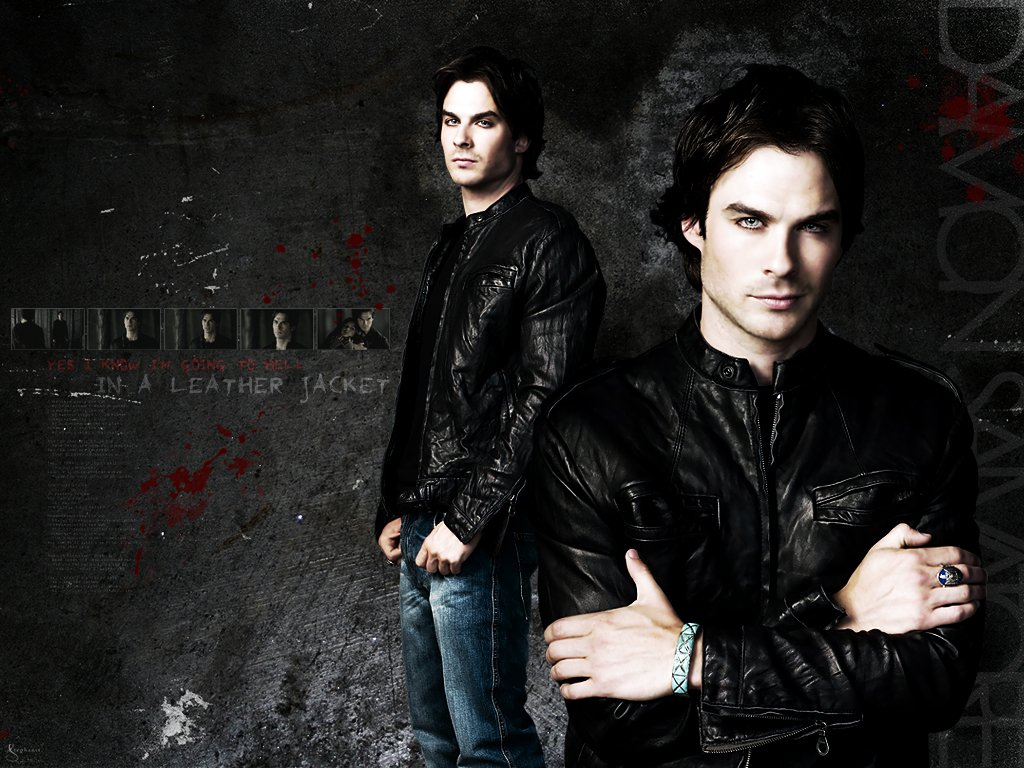 50 Damon Salvatore Vampire Diaries Wallpaper On