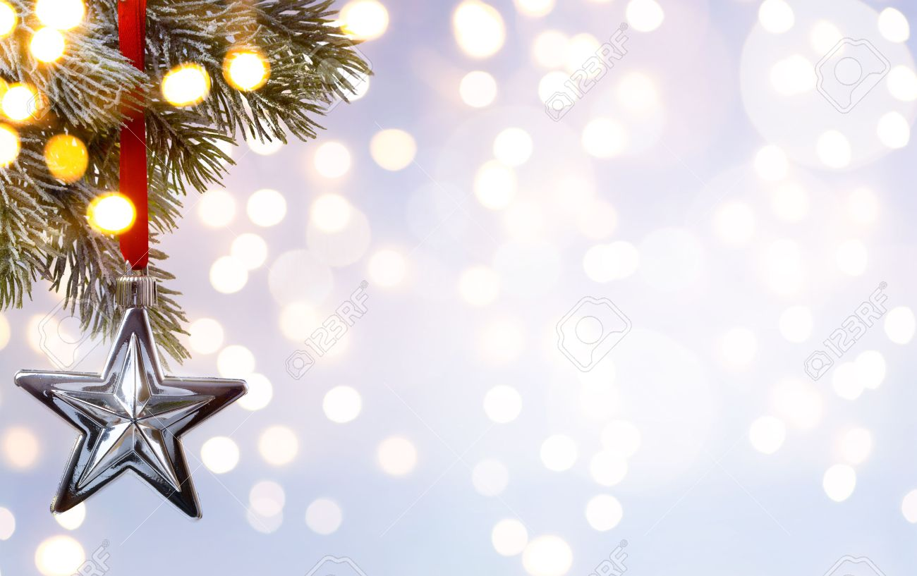 Christmas Holiday Background Tree Light Stock Photo Picture And 1300x817