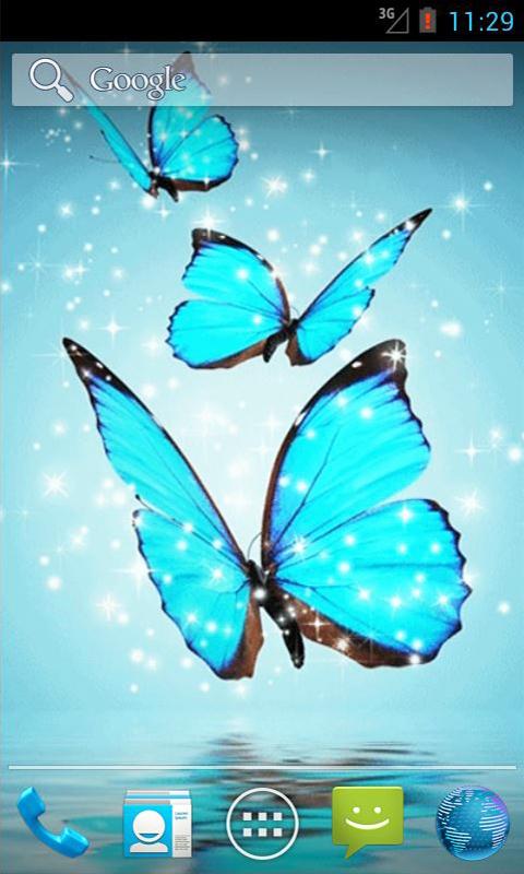 Press Menu Wallpapers Live Wallpapers Cyan Butterfly 480x800