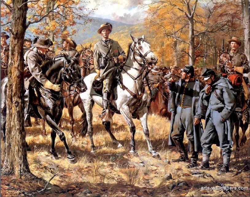 American Civil War Paintings Art Prints Gallery Pictures Artworks 814x642