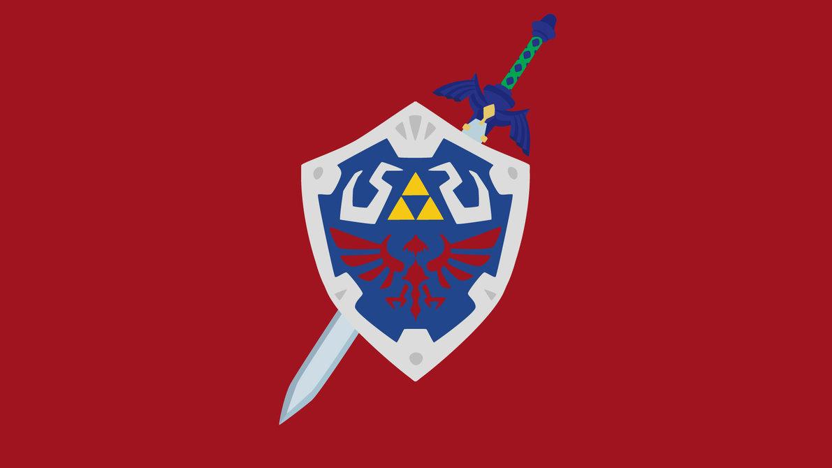 Hylian Shield and Master Sword by Krukmeister 1191x670