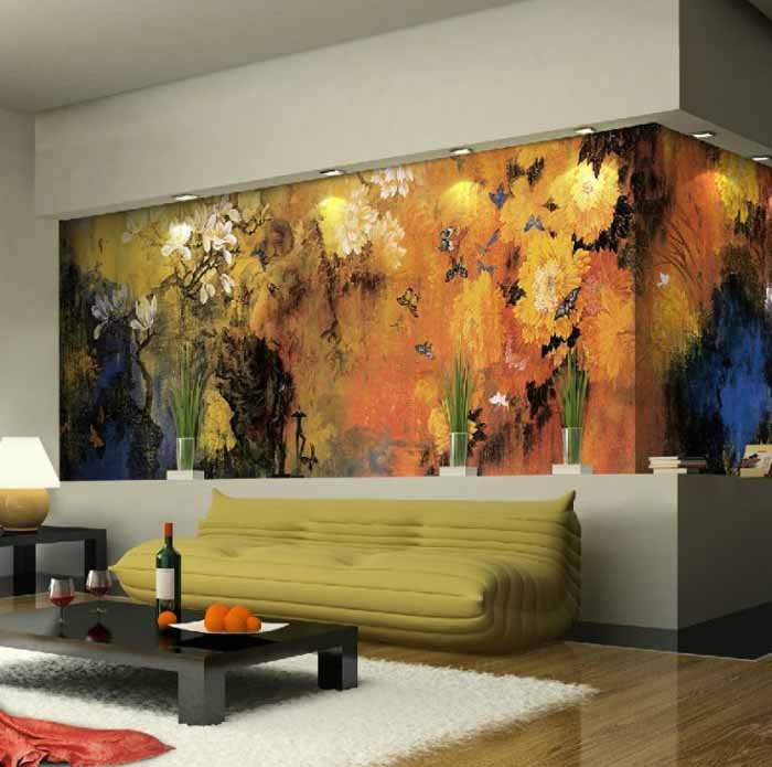 10 Living Room Designs With Unexpected Wall Murals   Decoholic 700x695