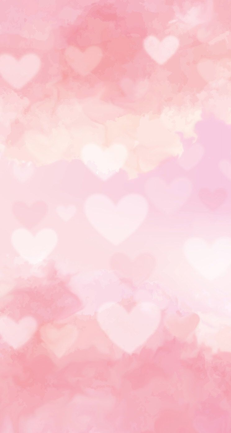 hearts pink hazy wallpaper background iphone hd WALLPAPER 744x1392