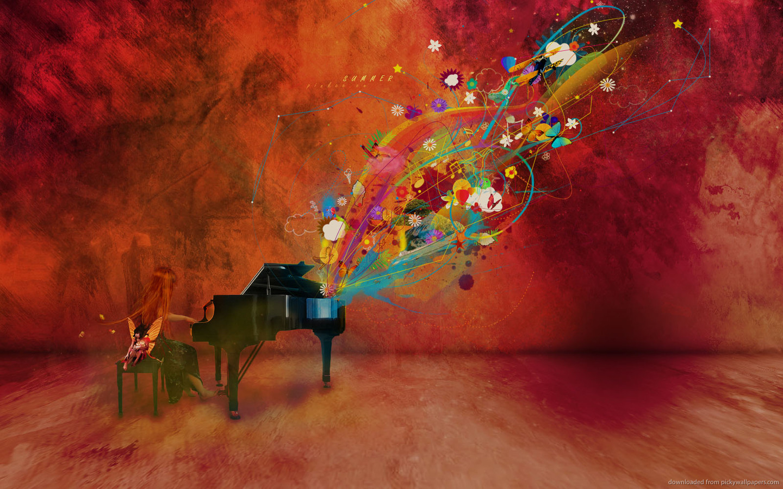 Wallpaper 1440x1280 Px Abstract Love Nature: Grand Piano Wallpaper