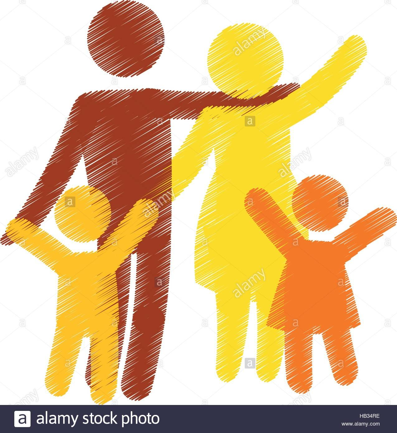 family of parents and kids over white background colorful and 1275x1390