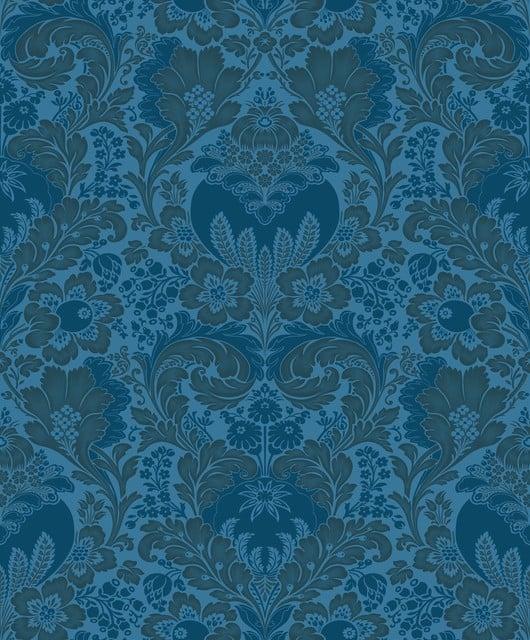 Damask Wallpaper Blue Gold   Traditional   Wallpaper   by Wallpaper 530x640