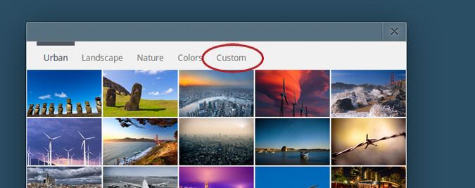 to select the desired image from the files saved on your Chromebook 675x267