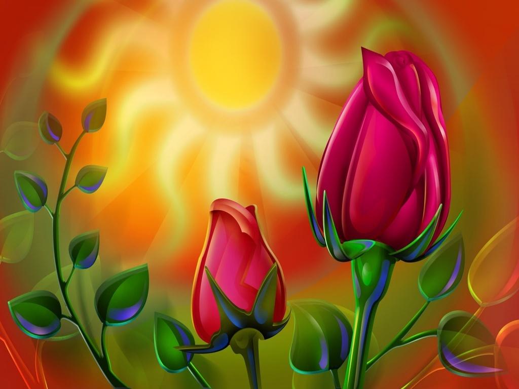 Flower 3D Wallpaper   Desktop Backgrounds 1024x768
