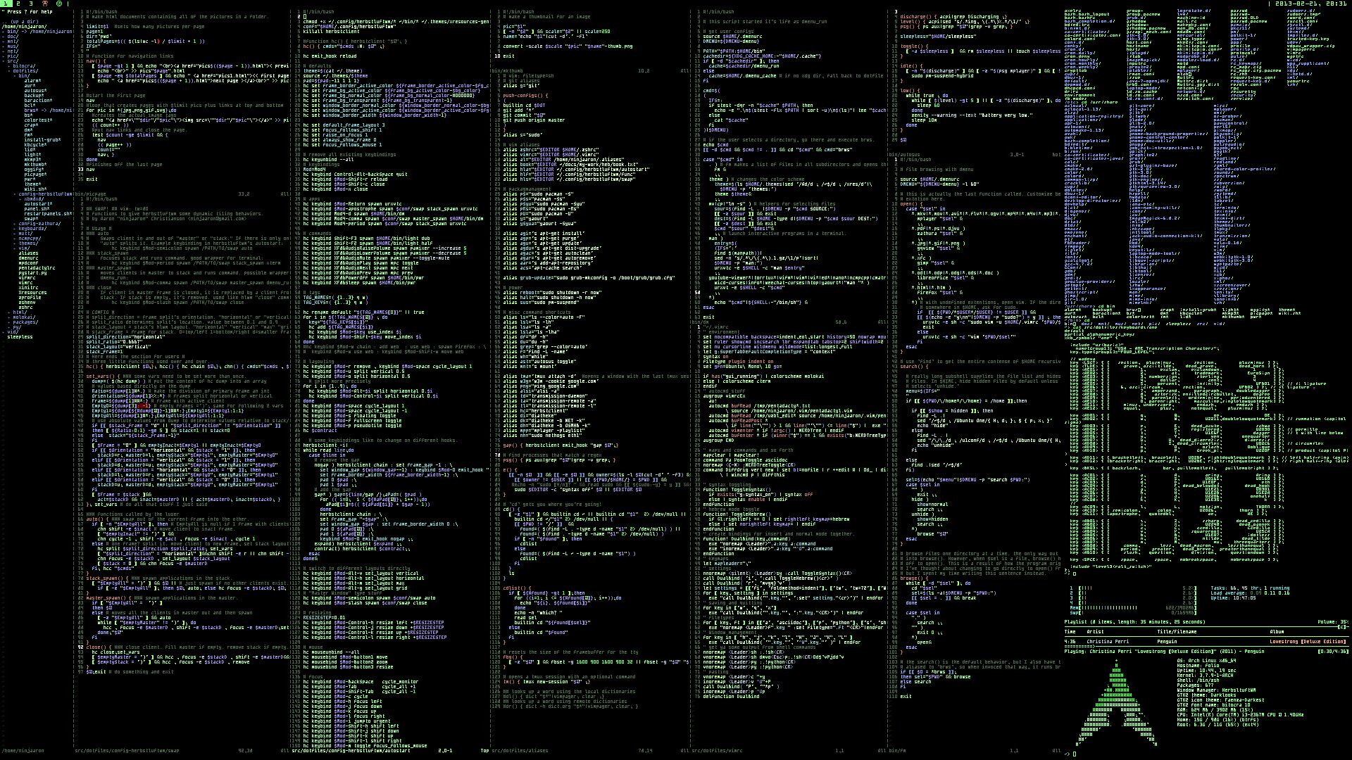 Linux Archlinux Terminal computer system programming wallpaper 1920x1080