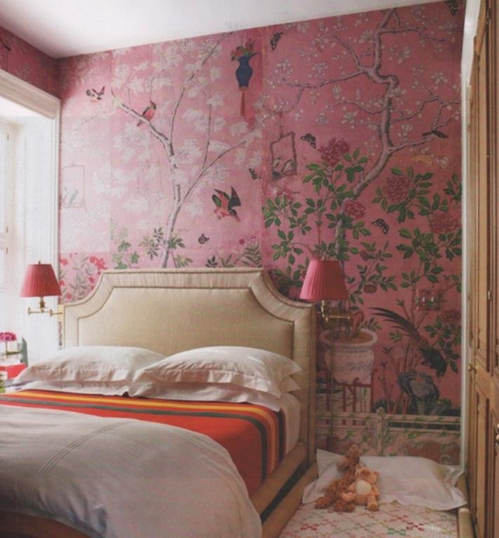 Eclectic Bedroom Ideas Design with Wallpaper   nijihomedesign 711x767