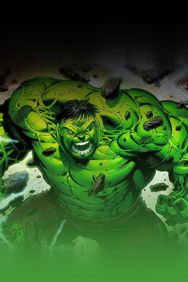 FREEIOS7 hulk on fire   parallax HD iPhone iPad wallpaper 640x960