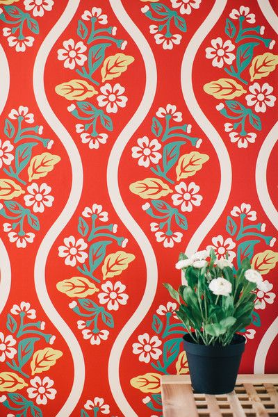 Vintage Flower removable wallpaper home Pinterest 400x600