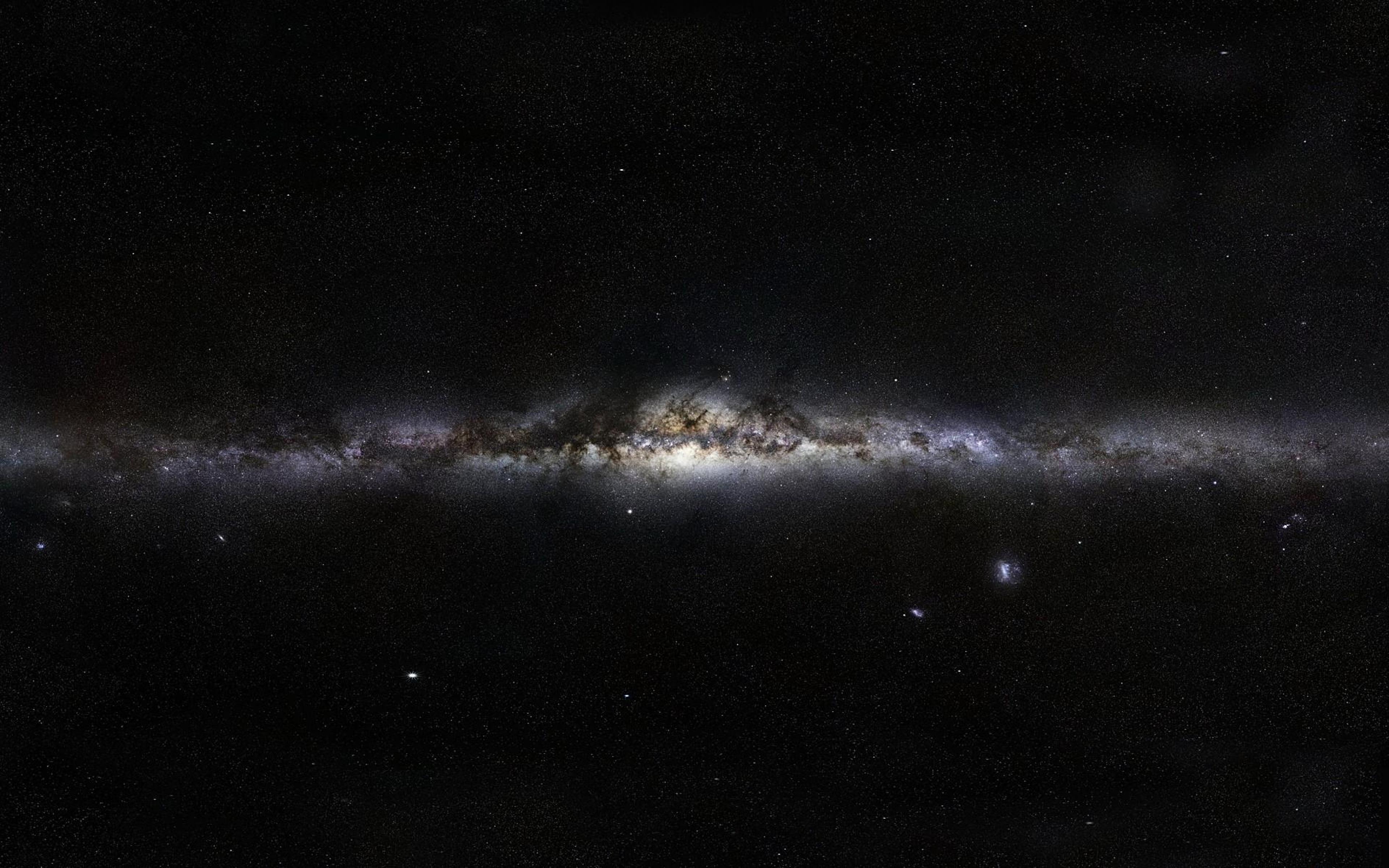 Download Dark Milky Way Galaxy Line Of Stars Wallpaper 3840x2400
