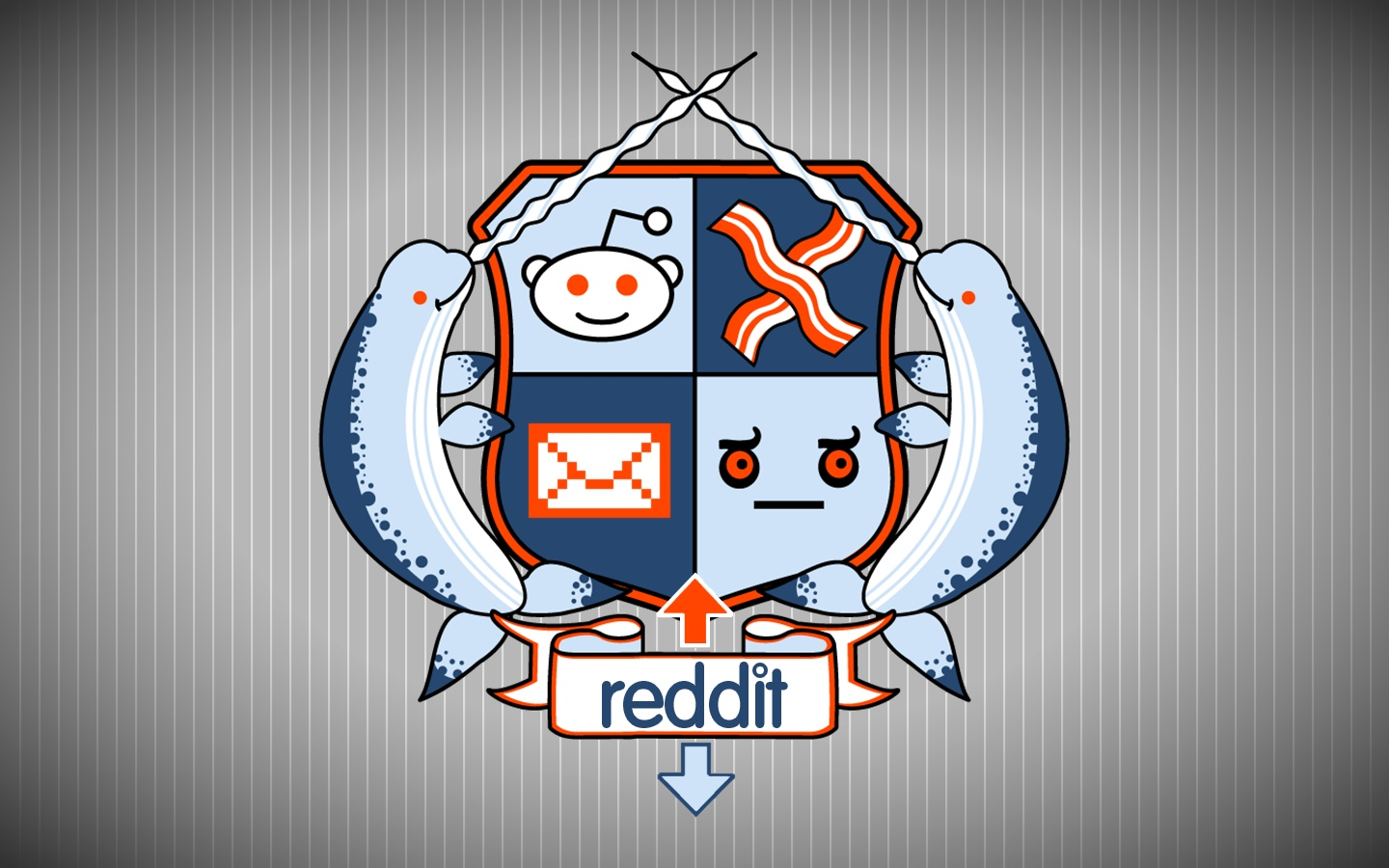 Someone created a reddit Coat of Arms and it featured both narwhals 1440x900