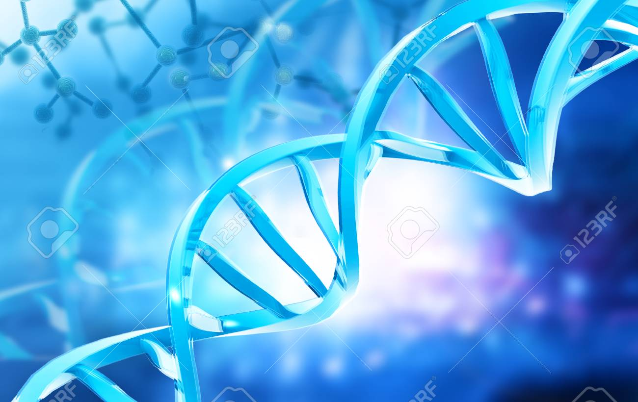 DNA Structure On Abstract Digital Background 3d Illustration 1300x820