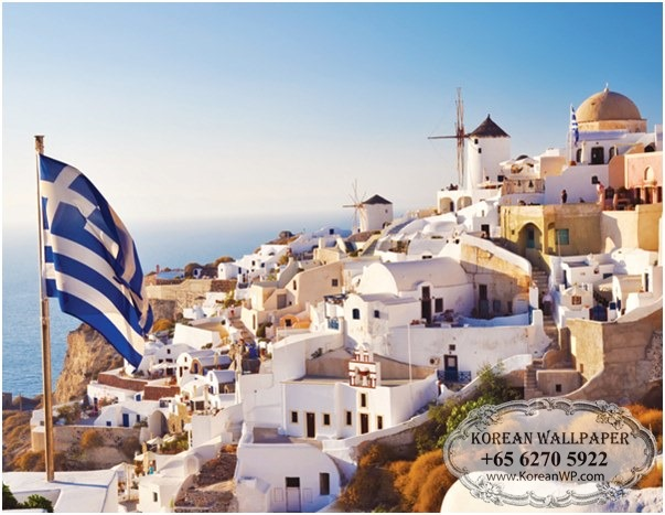 Mural 159 Wonderful Santorini Wall Mural 603x467