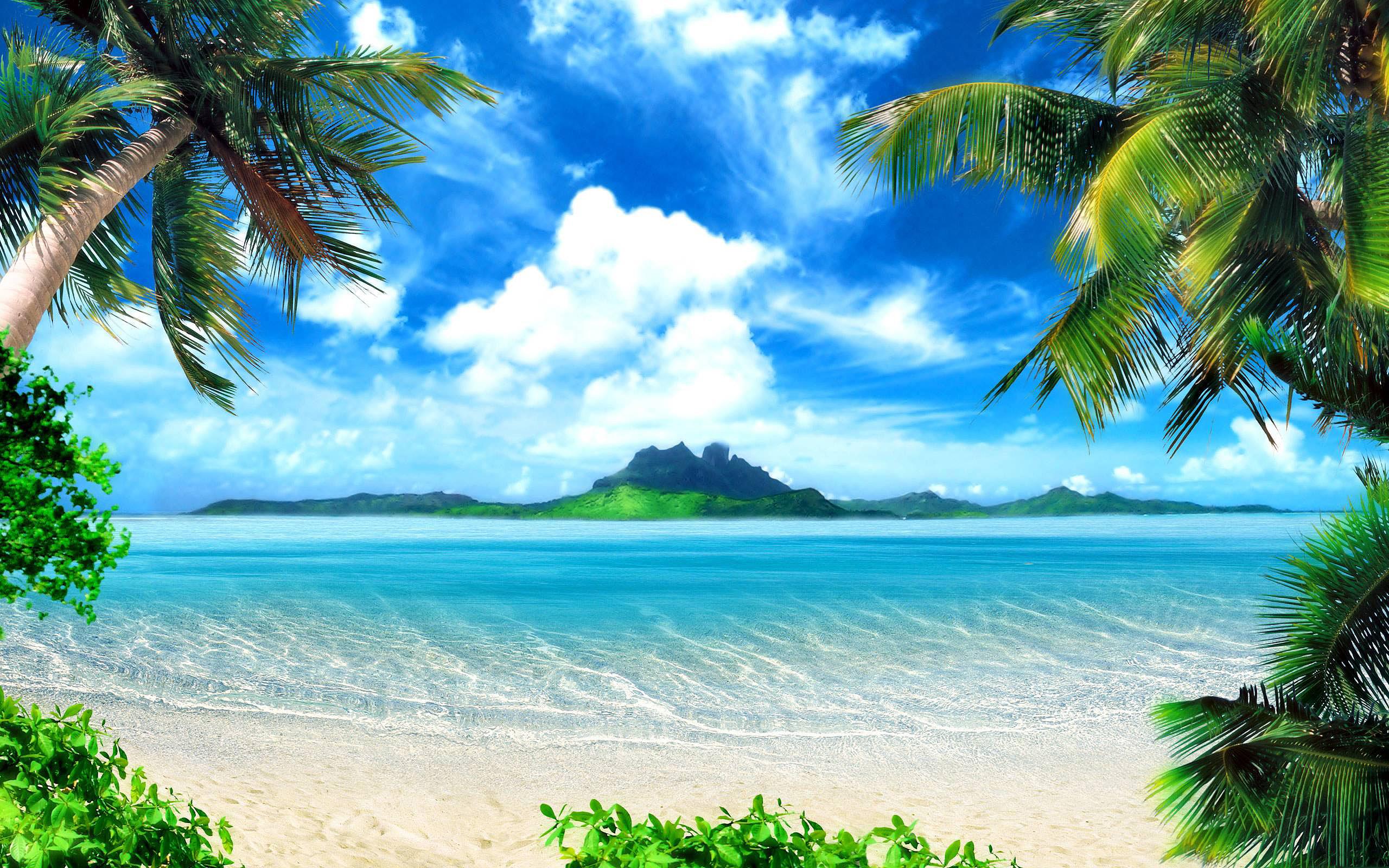 Tropical Beach Wallpaper HD wallpaper background