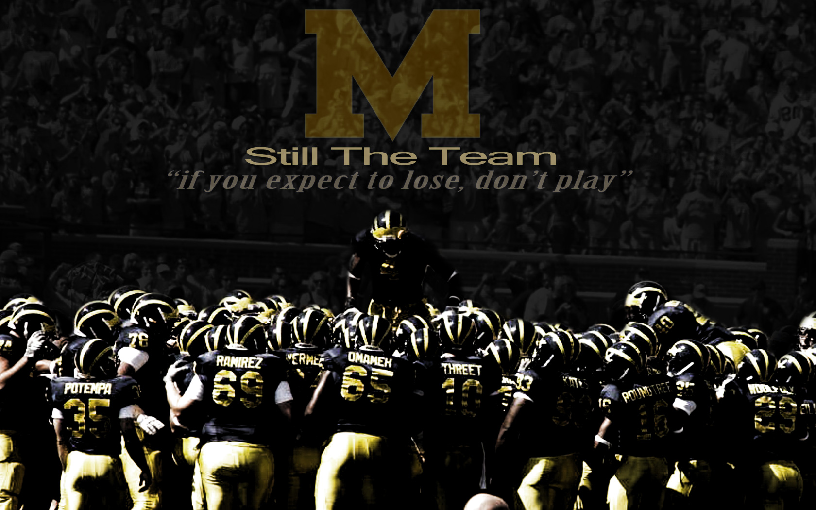 Michigan Wolverine Football Home Page 1680x1050