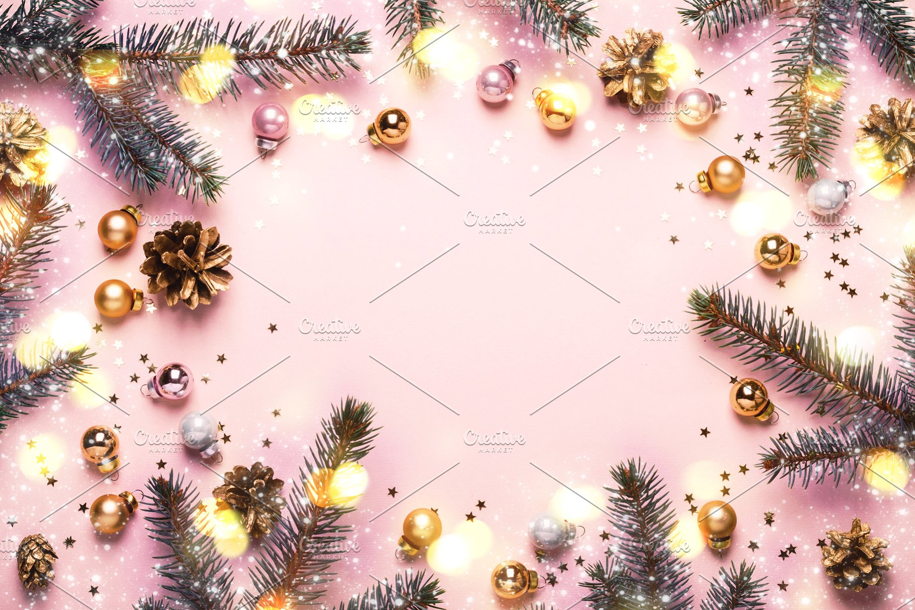 Pastel Pink Christmas Background Fe Holiday Photos Creative 1820x1214
