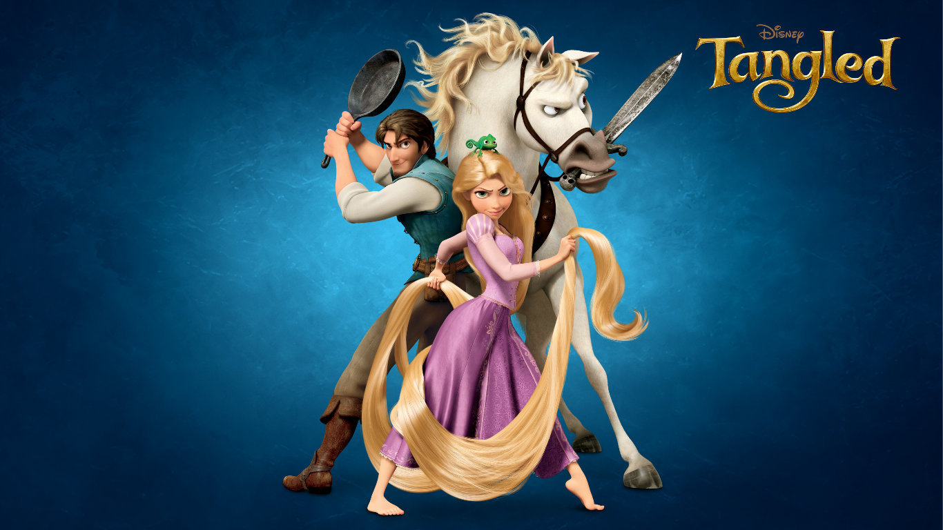 Tangled Desktop Wallpapers 1366x768