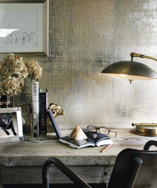 20 Cool Ideas To Make Your Walls Metallic And Shiny Shelterness 500x600