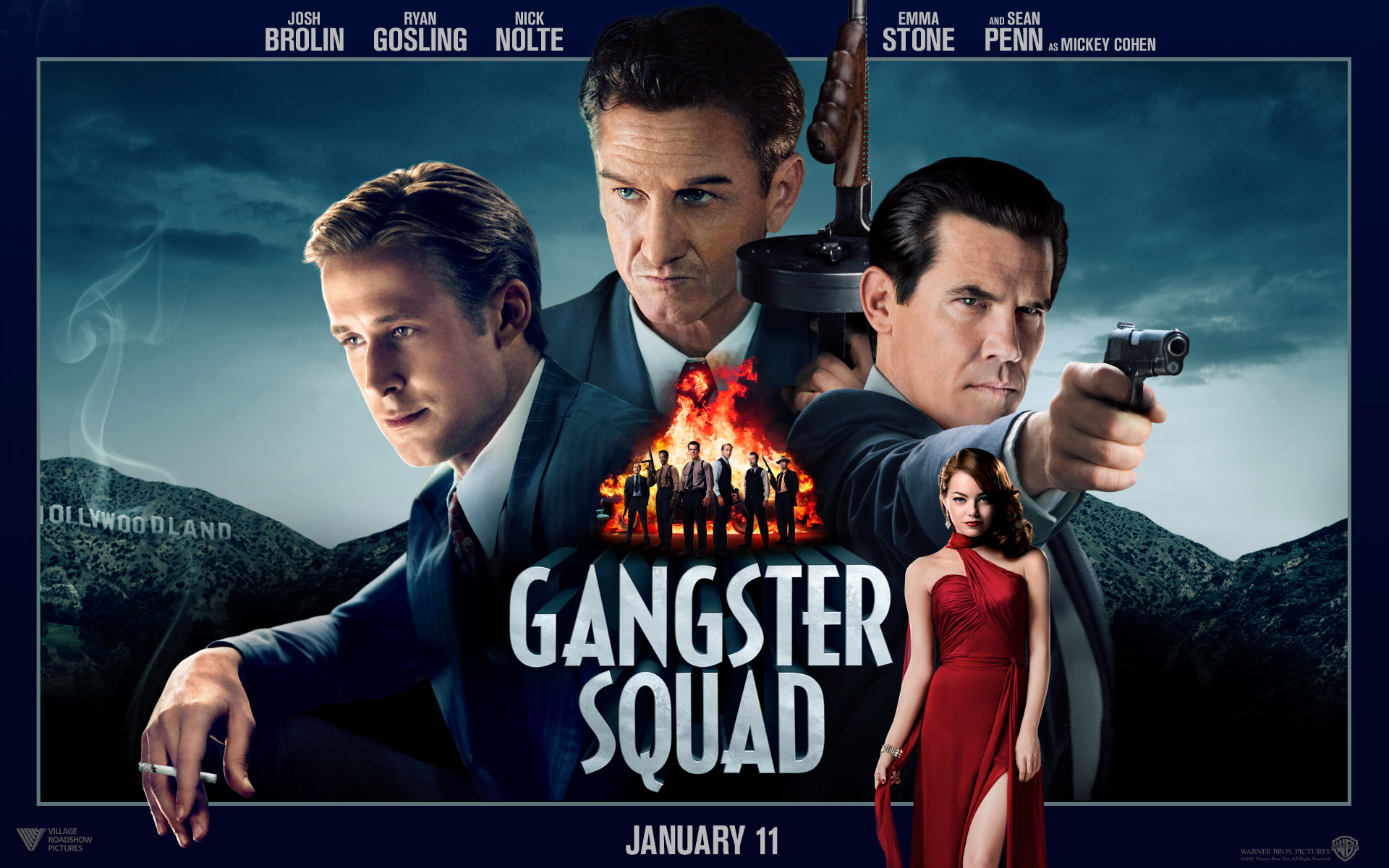 Gangster Squad Wallpapers HD Wallpapers 1920x1200