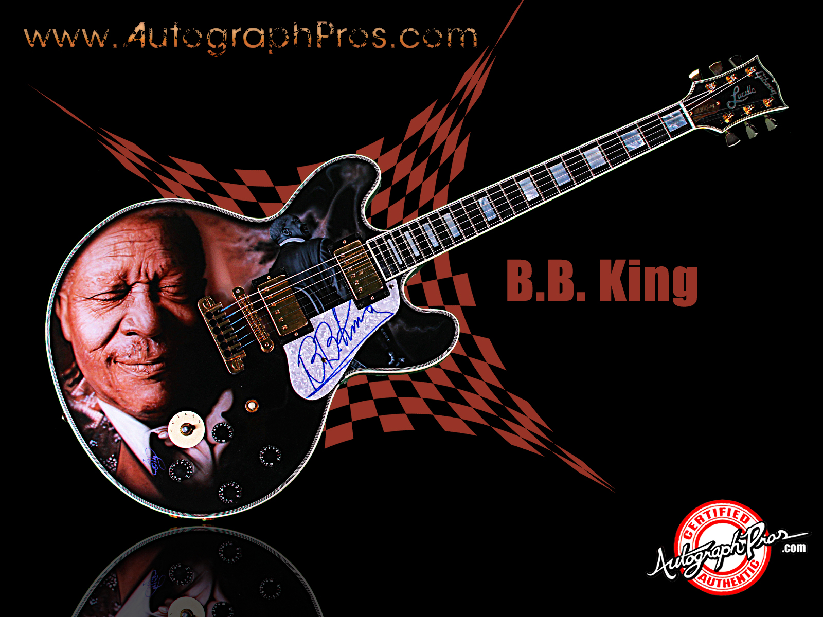 Details about BB King Autographed Signed Gibson Lucille Best 1600x1200