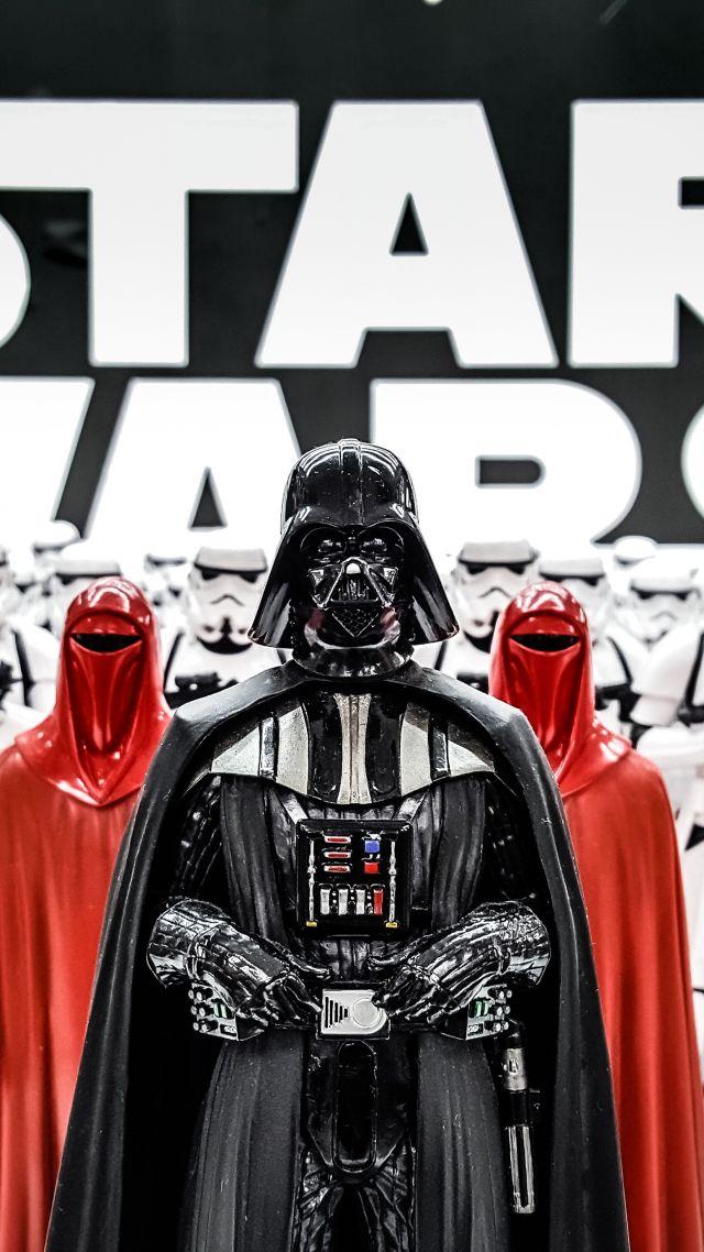 Wallpaper Darth Vader Figurine Star Wars Clone Trooper 5K Art 640x1138