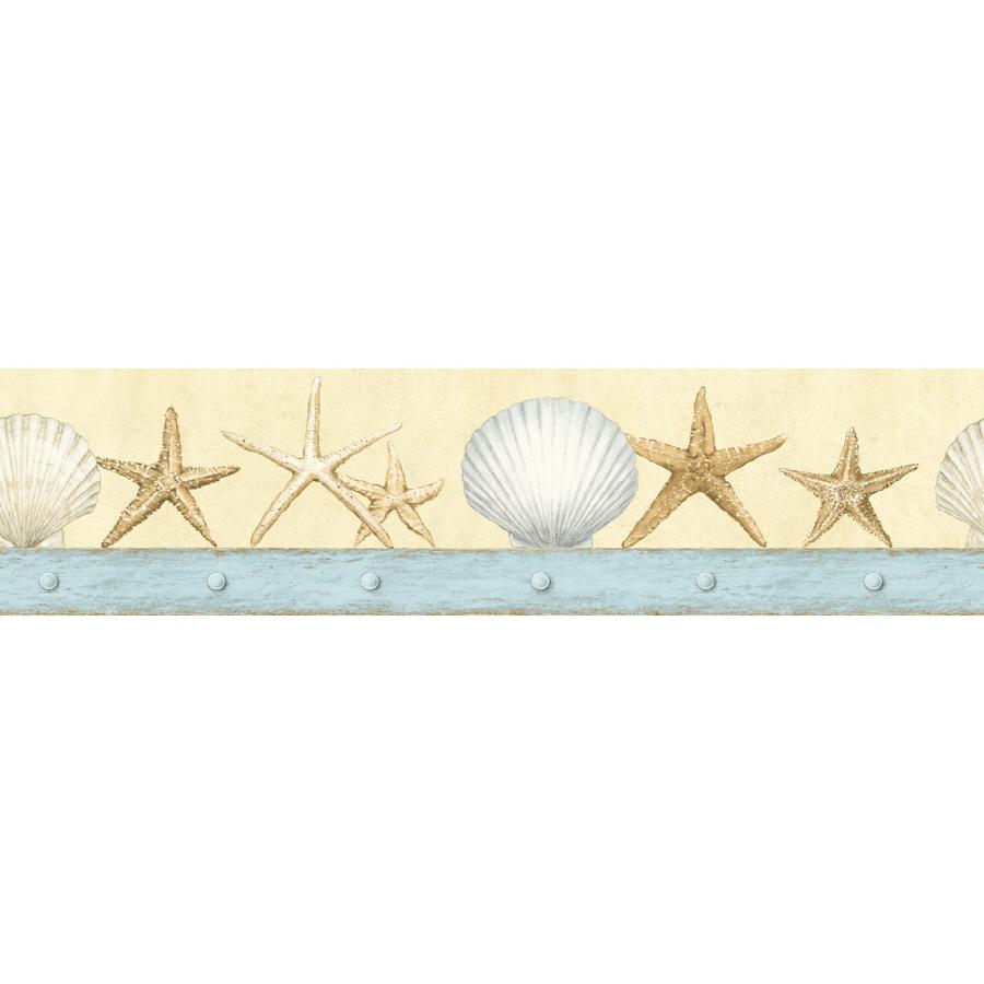 Shop IMPERIAL 4 34 Seashell Prepasted Wallpaper Border at Lowescom 900x900