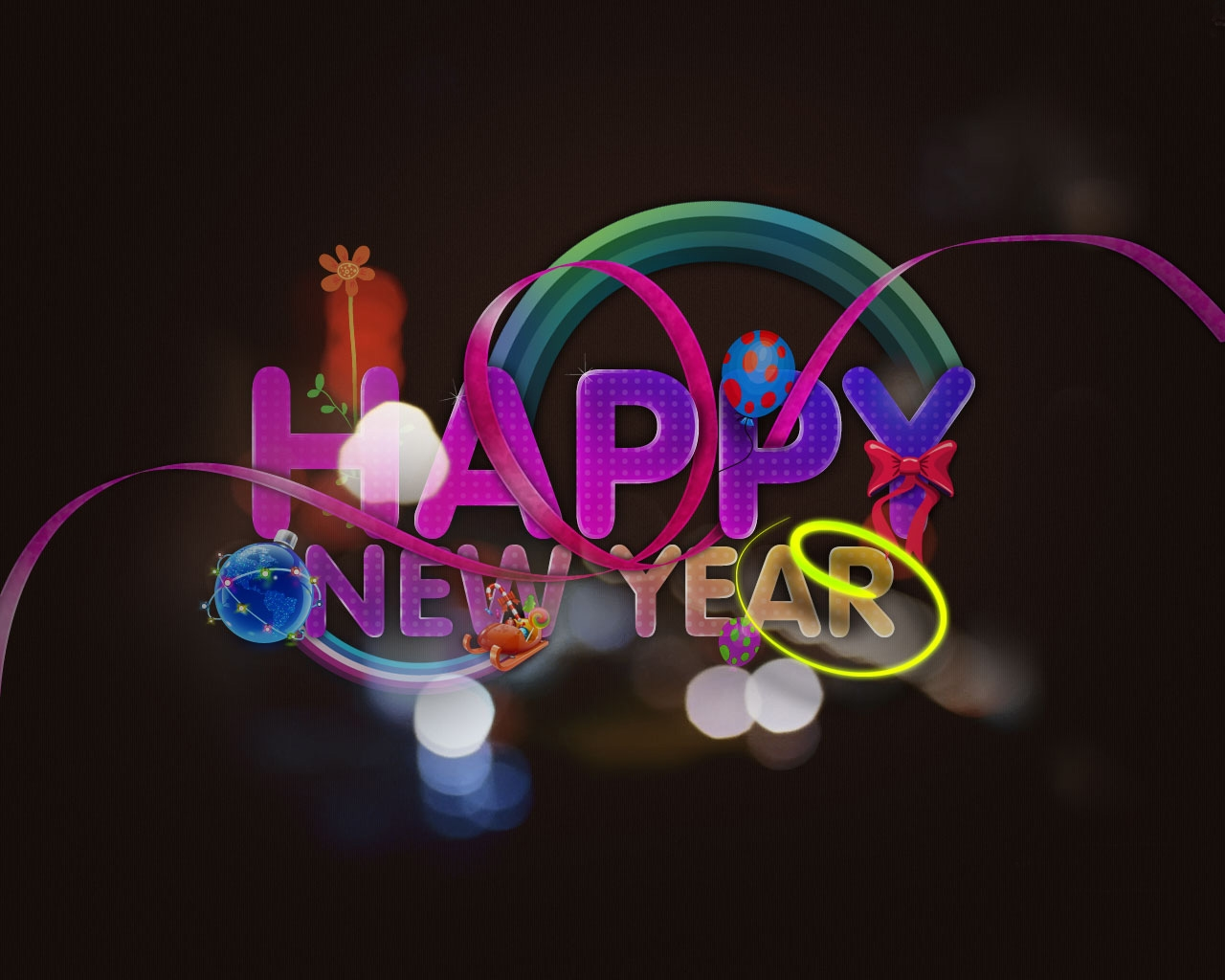 Most Beautiful Happy New Year Wishes Greetings Cards 1280x1024