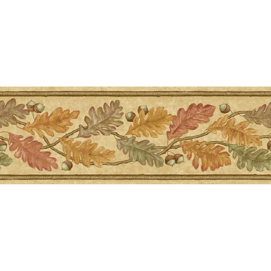 IMPERIAL 6 78 Oak Leaves Prepasted Wallpaper Border at Lowescom 900x900