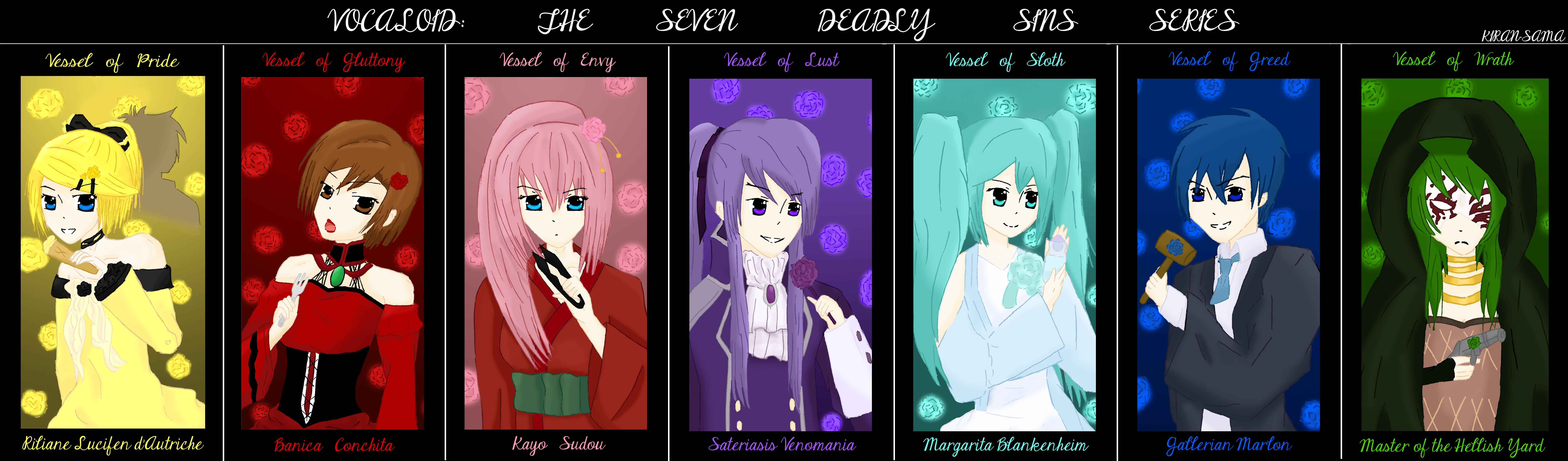CE  Vocaloid Seven Deadly Sins Series by KiranKon 7483x2202