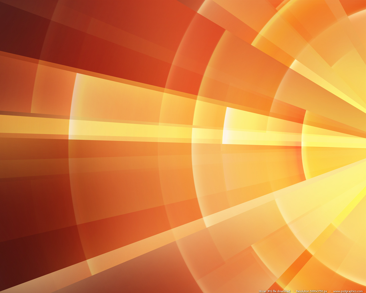 Abstract orange fire rings background PSDGraphics 1280x1024